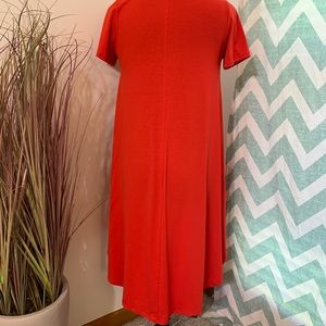 LuLaRoe XS Carly in a Vibrant Red